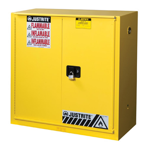 30 Gallon Sliding Self-Close Justrite® Sure-Grip® EX Safety Cabinet
