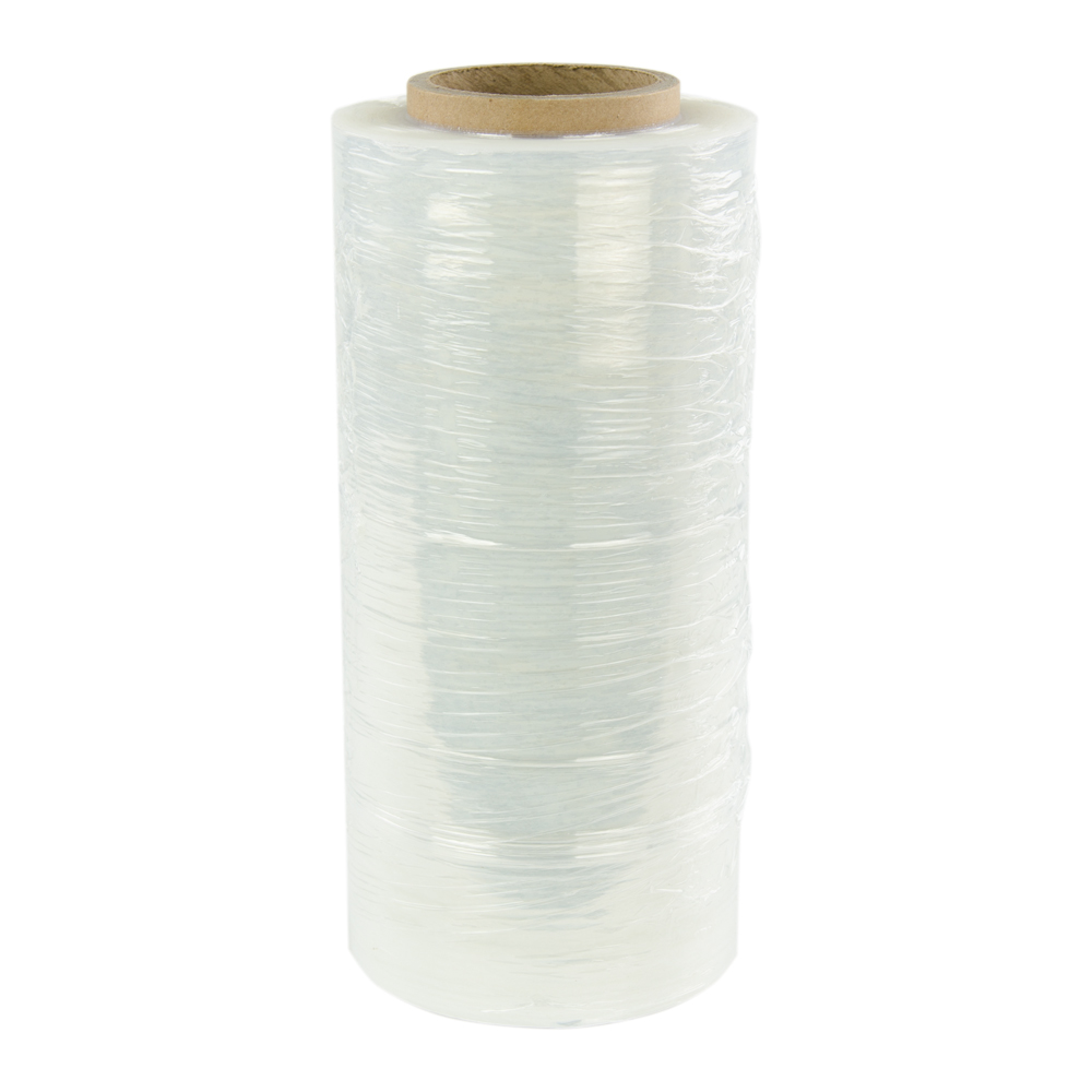 "18"" x 1500' Conventional Roll of Stretch Wrap 90 Gauge/.0009""/.9 Mil"