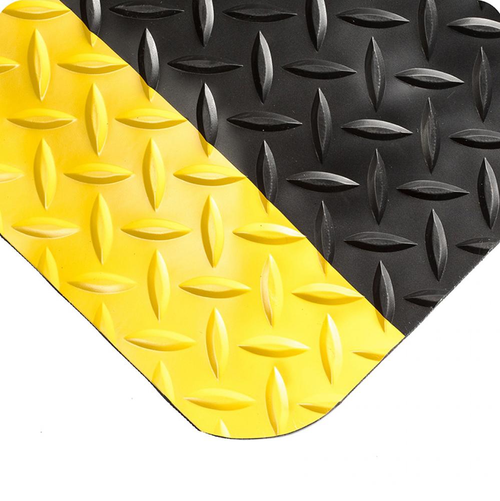 3' x 5' Black & Yellow Diamond-Plate Anti-Fatigue Mat