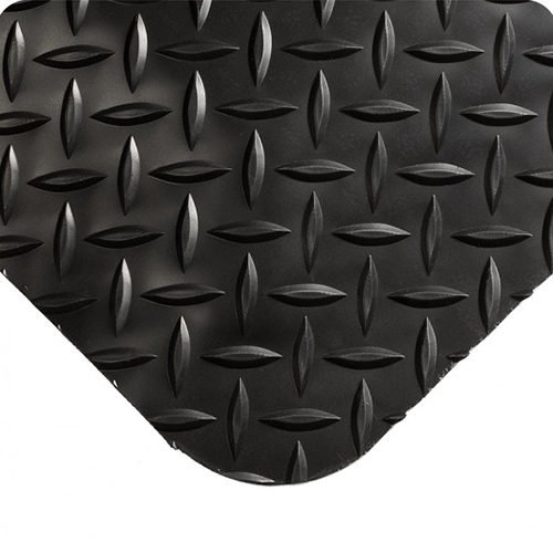 3' x 5' Black Diamond-Plate Anti-Fatigue Mat