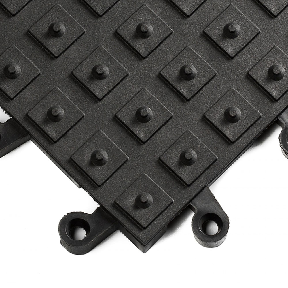 Black ErgoDeck Safety System with No-Slip Solid Cleats