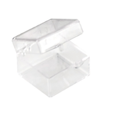 "Clear Hinged Box - 1"" L x 1"" W x 3/4"" Hgt."