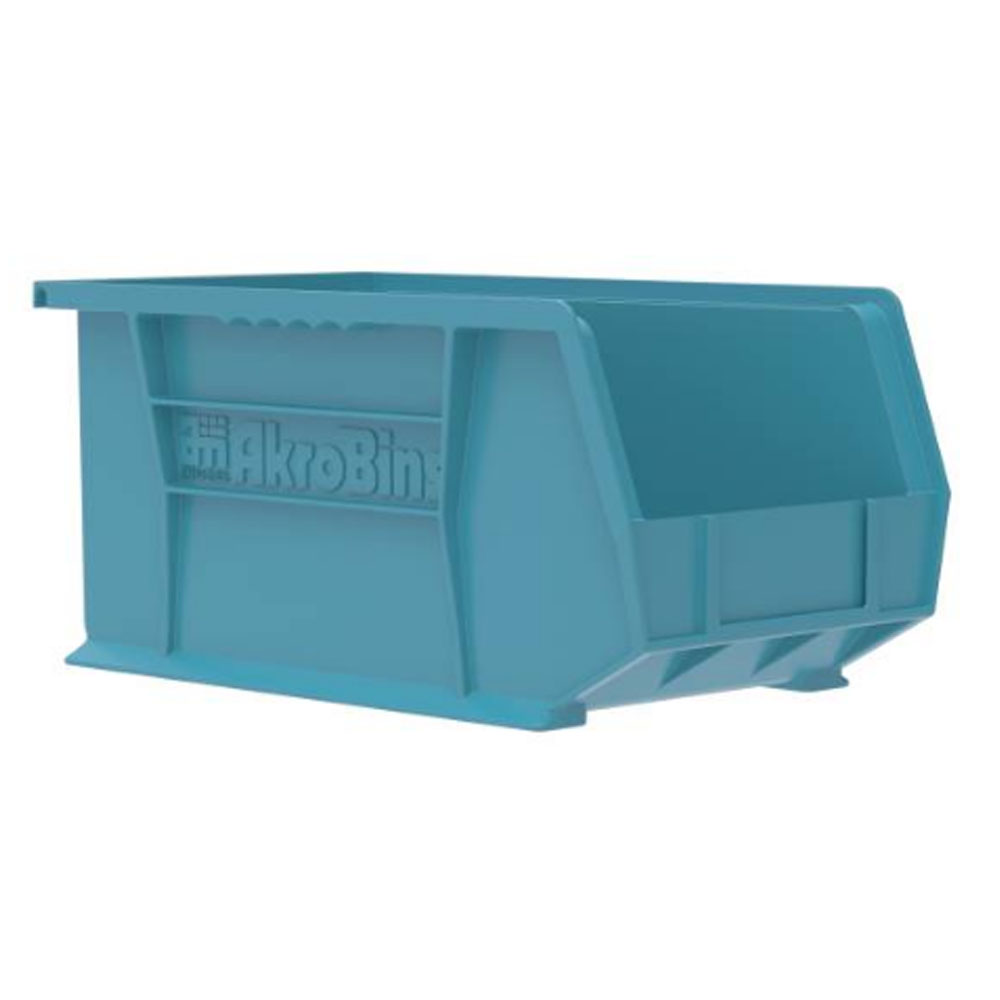 "14-3/4"" L x 8-1/4"" W x 7"" Hgt. OD Light Blue Storage Bin"