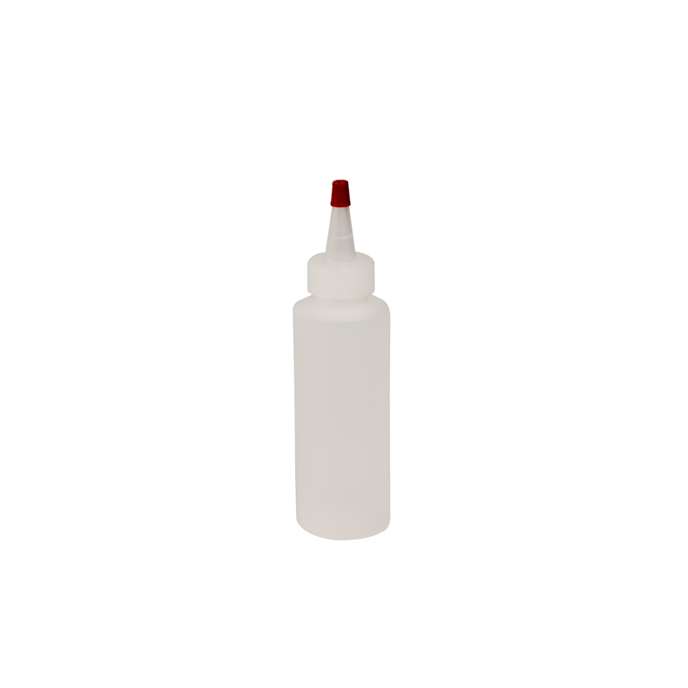 4 oz. Natural HDPE Cylindrical Sample Bottle with 24/410 Natural Yorker Cap