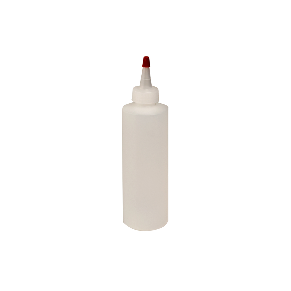 8 oz. Translucent Cylindrical Sample Bottle with 24/410 Natural Yorker Cap
