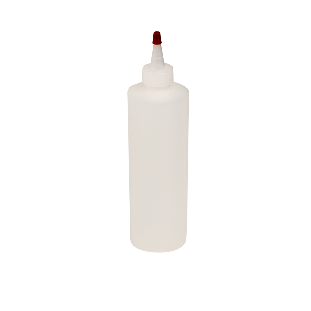 12 oz. Natural HDPE Cylindrical Sample Bottle with 24/410 Natural Yorker Cap