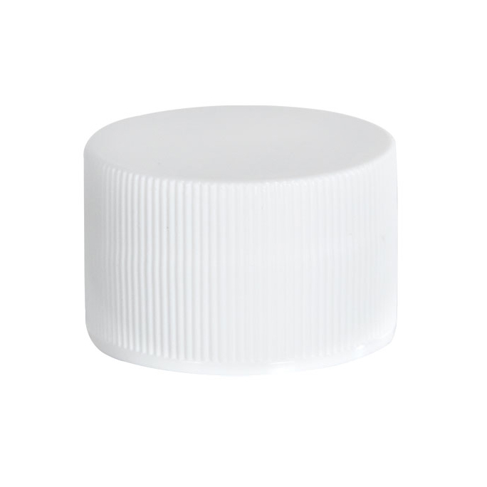 22/400 White Polypropylene Ribbed Cap with F217 Liner