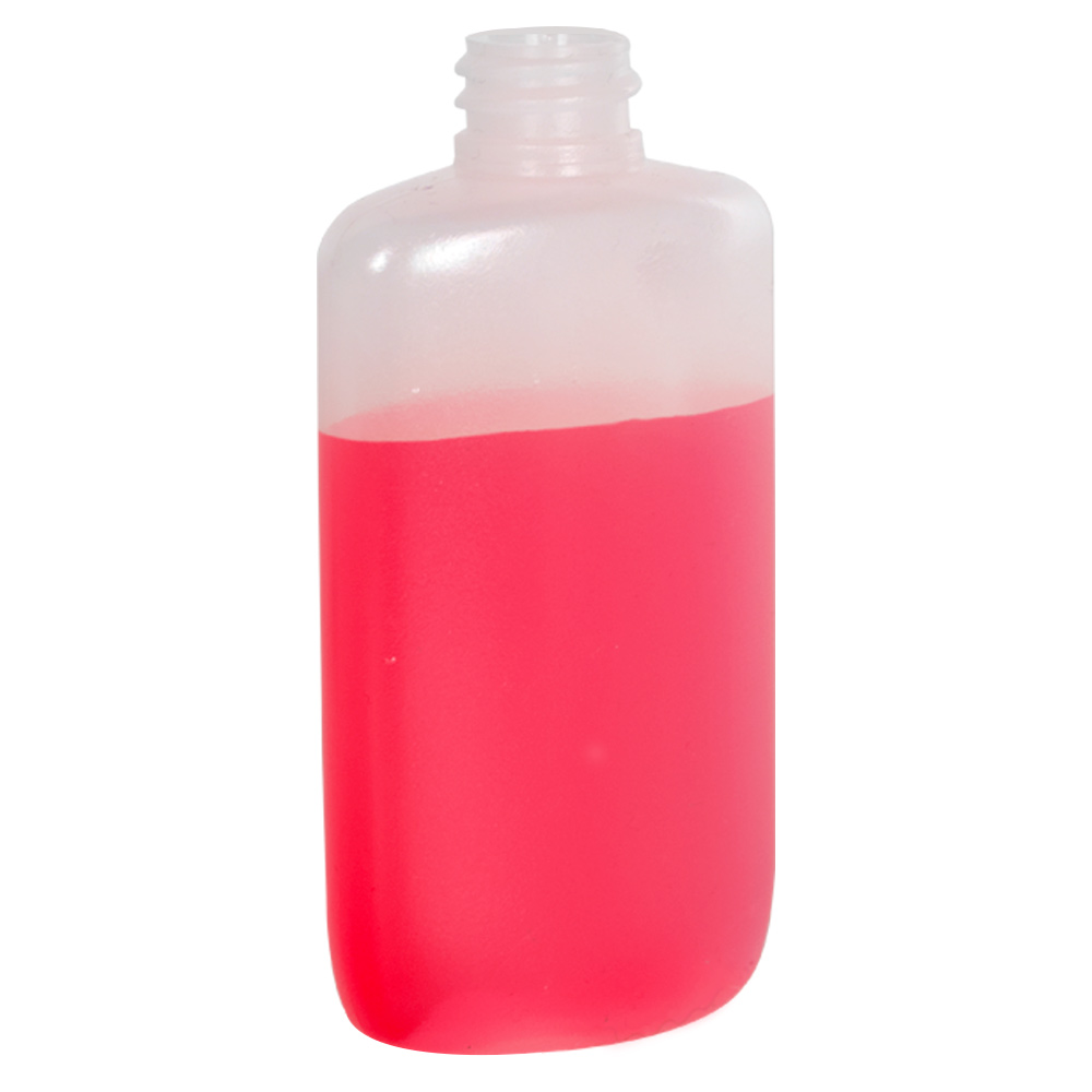 2 oz. LDPE Oval Bottle with 18/410 Neck (Cap Sold Separately)