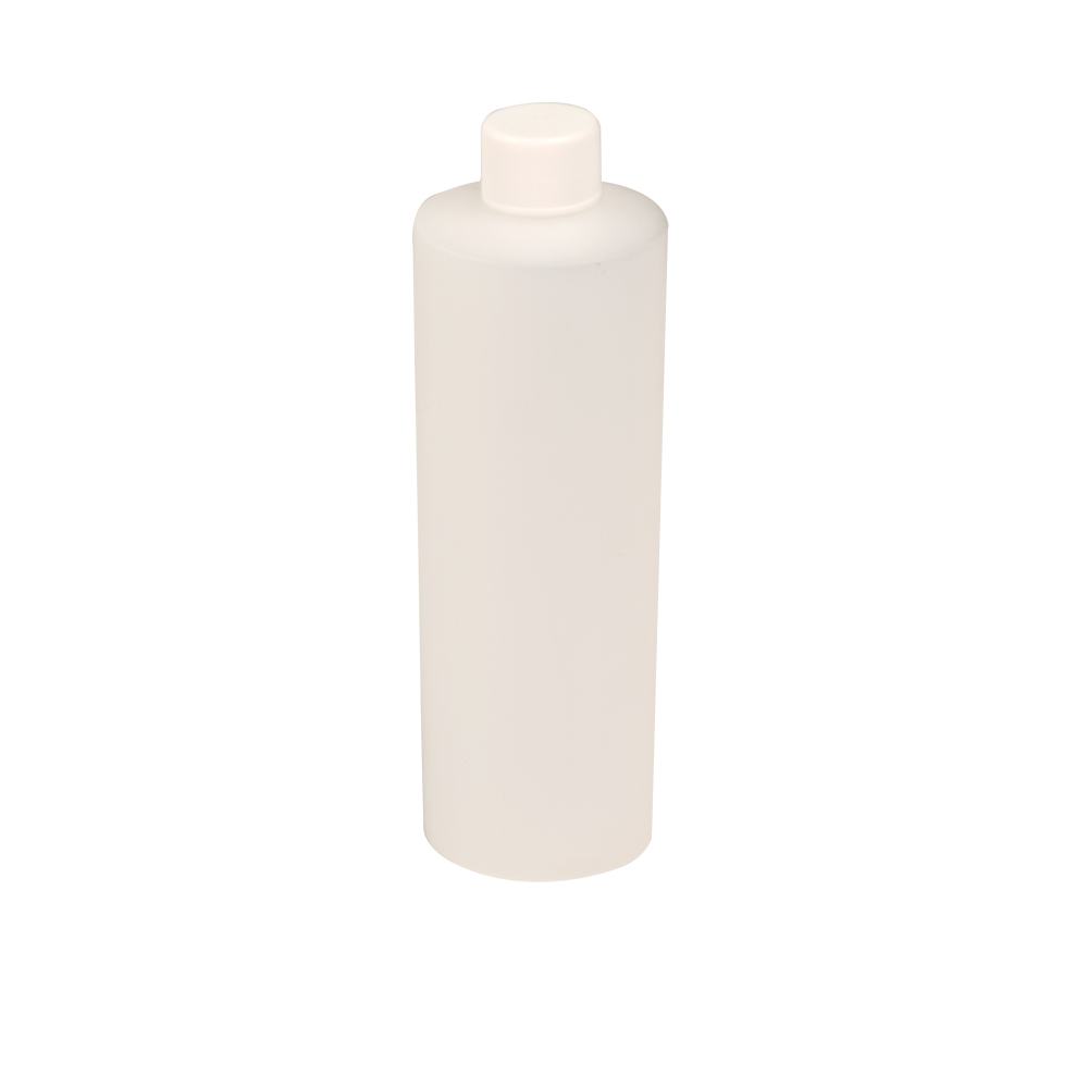 12 oz. Natural HDPE Cylindrical Sample Bottle with 24/410 Plain Cap
