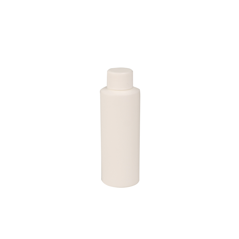 4 oz. White Cylindrical Sample Bottle with 24/410 Cap