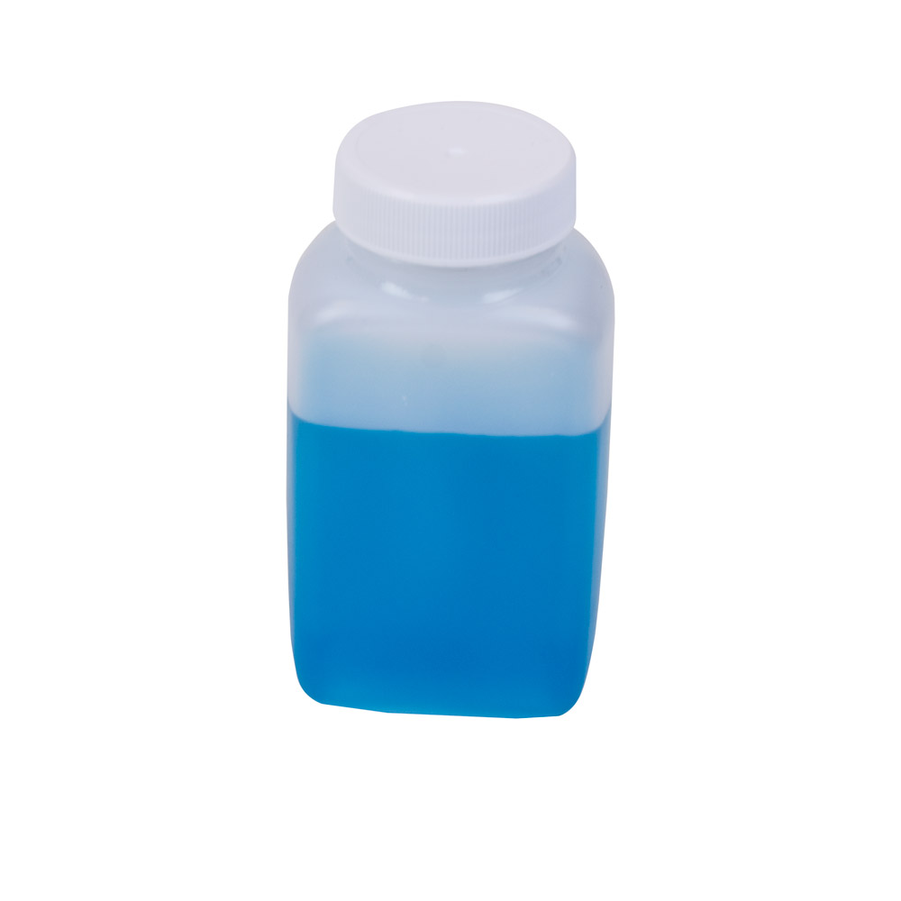 4 oz. Polyethylene Wide Mouth Oblong Bottle with 38/400 Cap