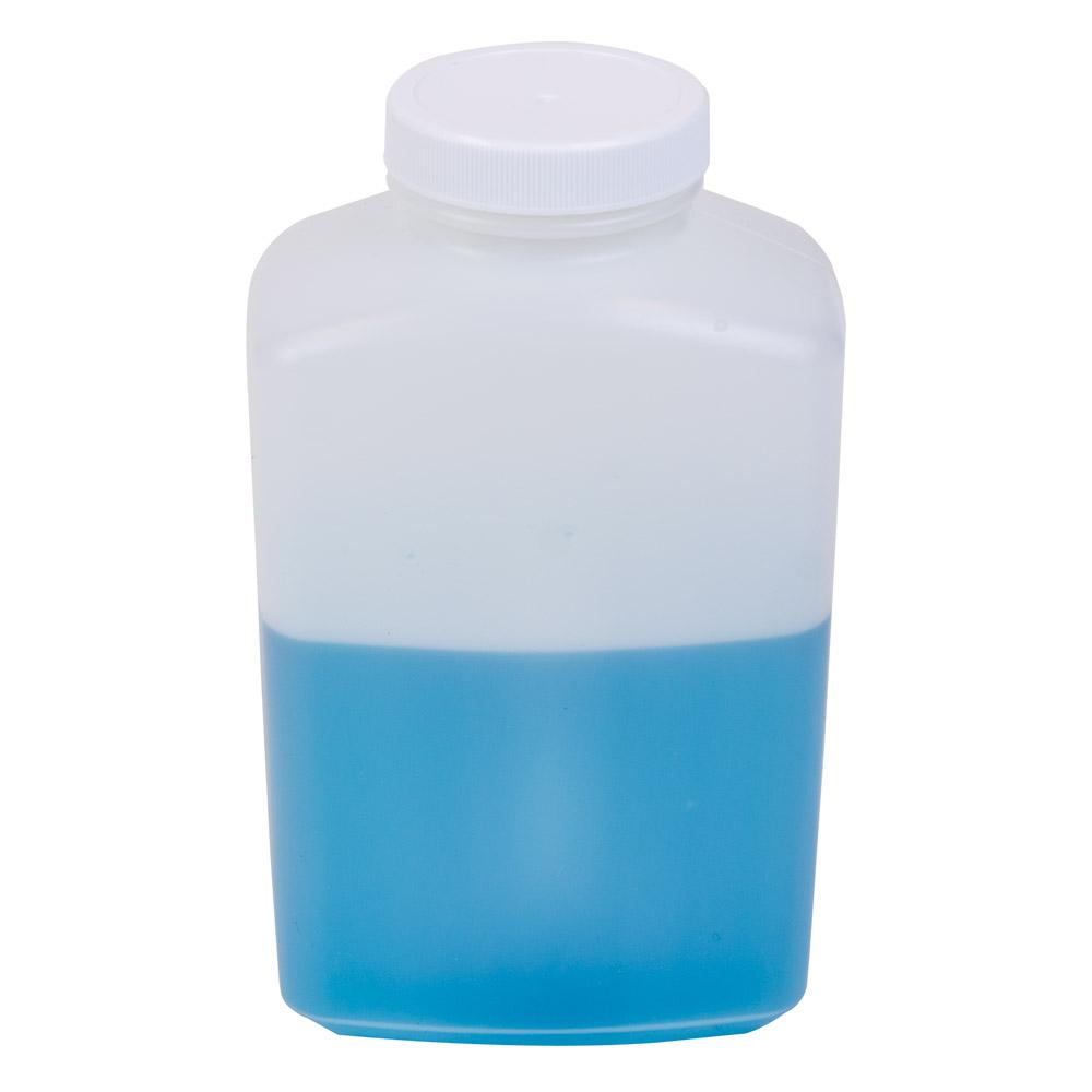 32 oz. Polyethylene Wide Mouth Oblong Bottle with 53/400 Cap