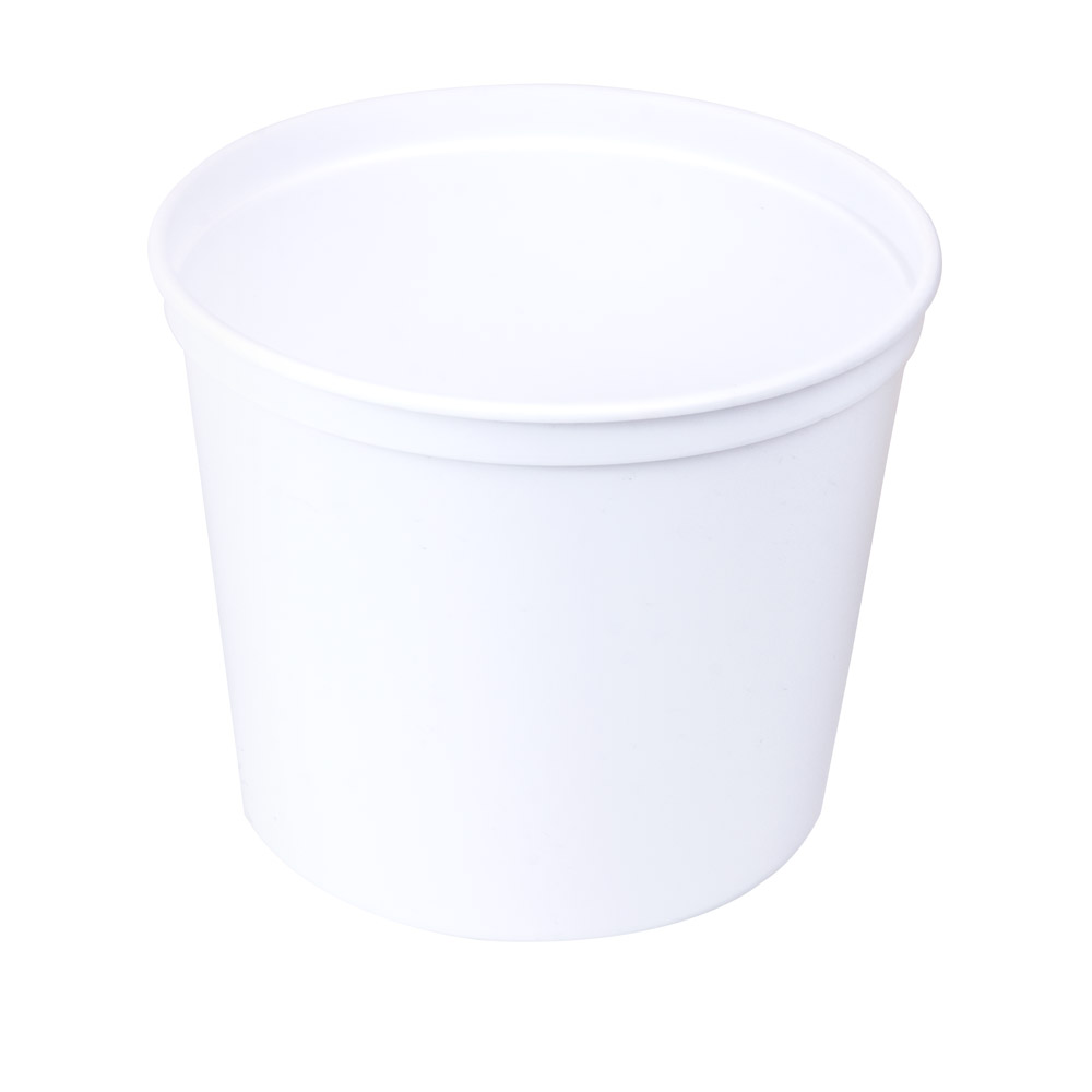 64 oz. White Polyethylene Container (Lid Sold Separately)