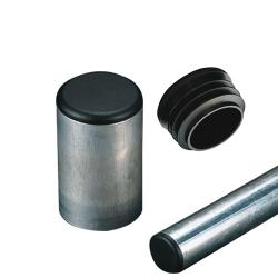 Round Black Tubing Plugs