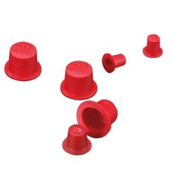 Red Tapered Vinyl Caps & Plugs