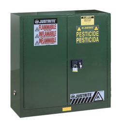 30 Gallon Manual-Close Justrite® Sure-Grip® EX Cabinet for Pesticides