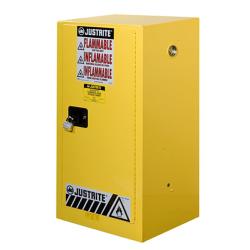 15 Gallon Manual-Close Justrite® Sure-Grip® EX Compac Cabinet
