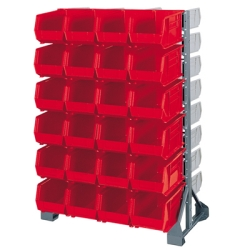 Akro-Mils® Stationary Rack, Storage Bins & Mobile Kit