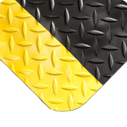 2' x 3' Black & Yellow Diamond-Plate Anti-Fatigue Mat
