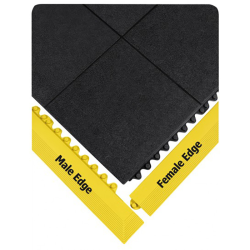 "39"" L x 3"" W Yellow Female Edge Ramp"