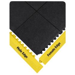 """39"""" L x 3"""" W Yellow Male Edge Ramp"""