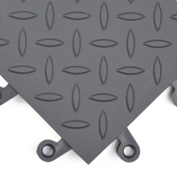 Charcoal Gray Diamond Plate ErgoDeck Safety System