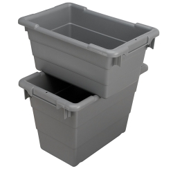 "25"" L x 16"" W x 8-1/2"" Hgt. Gray Cross-Stack Akro-Tub"