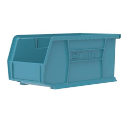 "10-7/8"" L x 5-1/2"" W x 5"" Hgt. OD Light Blue Storage Bin"