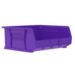 "14-3/4"" L x 16-1/2"" W x 7"" Hgt. OD Purple Storage Bin"