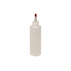 8 oz. Natural HDPE Cylindrical Sample Bottle with 24/410 Natural Yorker Cap