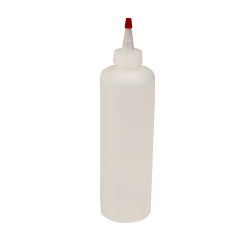 16 oz. Natural HDPE Cylindrical Sample Bottle with 28/410 Natural Yorker Cap
