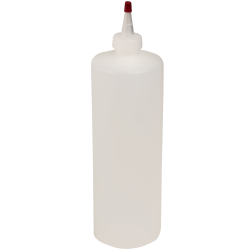 32 oz. Natural HDPE Cylindrical Sample Bottle with 28/410 Natural Yorker Cap