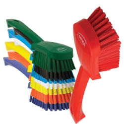 Vikan® Color Coded Short Handled Stiff Hand Brush