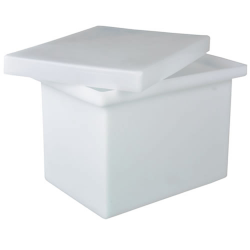 "2 Gallon Polyethylene Tank - 8"" L x 8"" W x 8"" H (Can Ship UPS)"