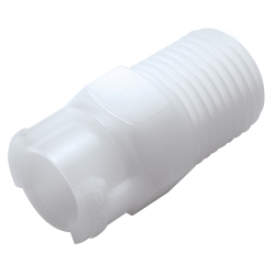 "1/8"" MNPT Acetal In-Line Coupling Body - Shutoff (Insert Sold Separately)"