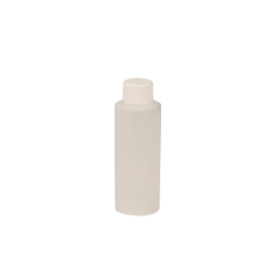 4 oz. Natural HDPE Cylindrical Sample Bottle with 24/410 Plain Cap