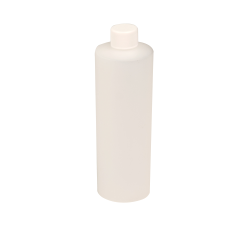 12 oz. Natural Cylindrical Sample Bottle with 24/410 Cap