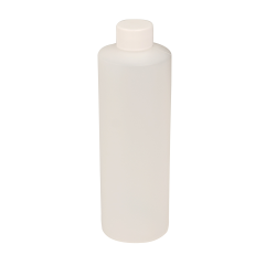16 oz. Natural HDPE Cylindrical Sample Bottle with 28/410 Plain Cap