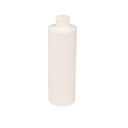 12 oz. White HDPE Cylindrical Sample Bottle with 24/410 Plain Cap