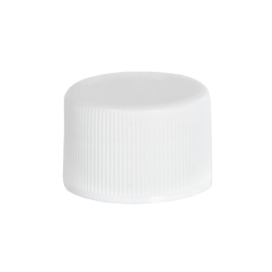 18/415 White Polypropylene Ribbed Cap with F217 Liner