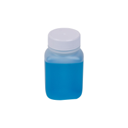 2 oz. Translucent Polyethylene Wide Mouth Oblong Bottle with 33/400 Cap