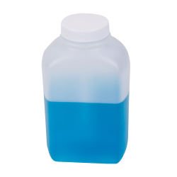 16 oz. Polyethylene Wide Mouth Oblong Bottle with 43/400 Cap
