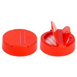 "63/485 Red 7 Hole Flapper® Spice Cap with PS113 Liner - .200"" Holes"