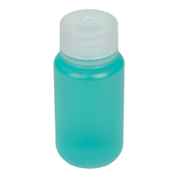 2 oz./60mL Nalgene™ Wide Mouth Polypropylene Economy Bottle with 28mm Cap