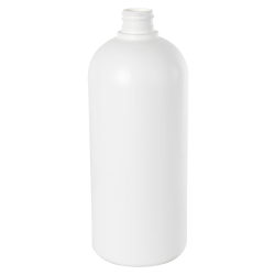 32 oz. HDPE White Cosmo Bottle 28/410 Neck  (Cap Sold Separately)