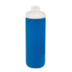 8 oz. Natural HDPE Cylinder Bottle with 24/410 Neck & Round Bottom (Cap Sold Separately)