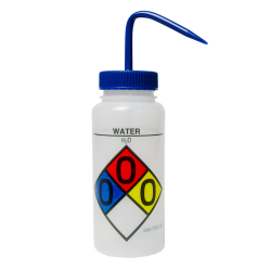 16 oz. Water Wide Mouth Safety-Labeled Wash Bottle