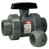 "3"" TBZ Series PVC Z-ball Valve with Threaded Ends"