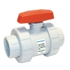 "1/2"" Threaded GFPP TB Series True Union Ball Valve with FPM O-rings"