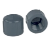 "1/4"" Schedule 80 Gray PVC Threaded Cap"